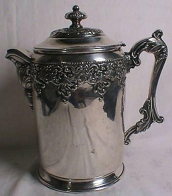 Victorian Forbes Ornate Silver Plate Antique Water Pitcher with Lid
