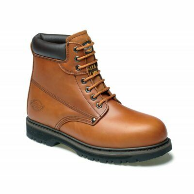 Dickies Cleveland Safety Work Boots Chestnut Steel Toe Cap Leather Fa23200