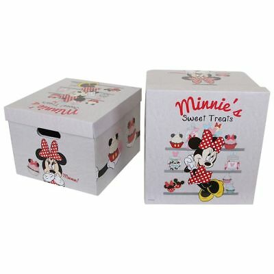 Scatola-box-custodia Minnie Mouse Disney per bambina. Set da 2