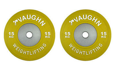 15 KG Vaughn Competition Olympic Bumper Plates Weight Plates Fitness Exercise