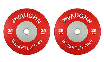 25 KG Vaughn Competition Bumper Plates Olympic Weight Plates Fitness Exercise