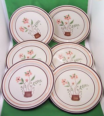 """Lot/6 Countryside Stoneware Collection Dinner Plates.   JMP  10 3/4"""""""