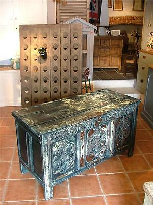 18th century painted oak coffer,chest,box,(westcountry)