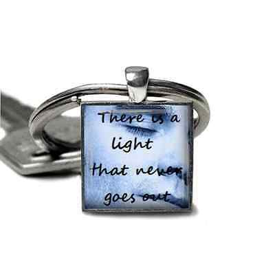 Smiths/Morrisey keyring handmade lyrics/quotes silver plated