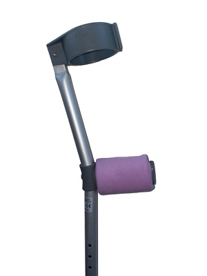 Crutch Handle Padded Covers HIGH QUALITY Cushioned Foam Pad - Lilac