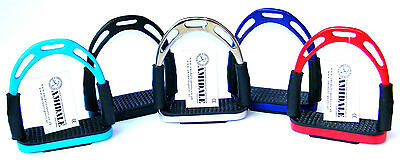 Flexi Safety Stirrups Horse Riding Bendy Irons S/s 5 Colors 3 Sizes Amidale New