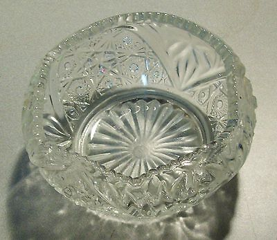 """Antique EAPG L.E. Smith Glass Co. Rose Bowl Early """"S G C"""" Mark in Circle"""
