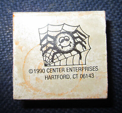 Halloween Spider Wood Mounted Ink Stamp for Scrapbook Card Making