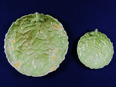 Antique Royal Bayreuth, 2 Green Tomato Leaves, Porcelain, Decoration Only