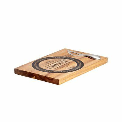 NEW Salt & Pepper Fromage Wooden Cheese Board with Stainless Steel Knife (RRP $5