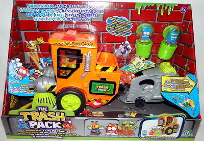 Giochi Preziosi The Trash Pack Kehrmaschine mit 2 Monstern Mülltonnen NEU
