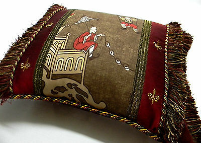 Scalamandre Ping Chinoiserie Toile Custom Designer accent Pillow