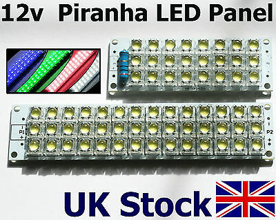 LED 12v Panel   24 or 42 Piranha LEDs,  Super Bright  - UK Stock