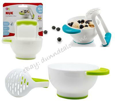 Voted 2014 Best NUK BPA Free Baby Annabel Karmel Food Masher and Weaning Bowl