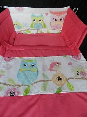 New Cute Owls  Crib Cot Space Saver Or Cot Bed  Bedding Set