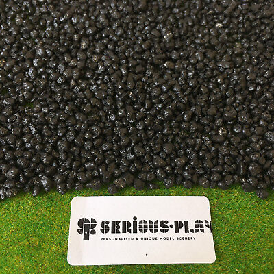 Serious-Play Black Coal - Scatter Model Trains Railway OO Scenery 00 Gauge Flock