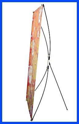"""2 Sets Adjustable Tripod X Banner Stand Trade Show Display, W 24""""~33"""" H 63""""~78"""""""
