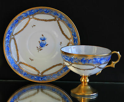 Porcelain collector's cup of Limoges - Artist Signature !! Hand painted by 1961