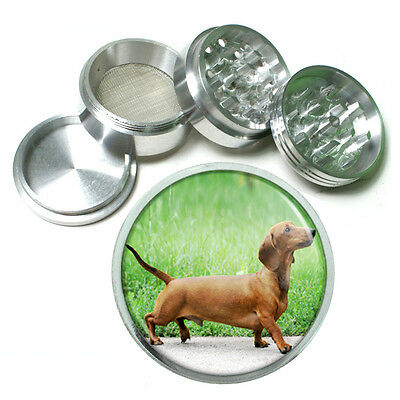Dog Dachshund 02 Aluminum Herb Tobacco 4pc Grinder