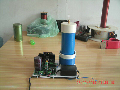 AC 220V Solid State Tesla Coil PLLSSTC ZVS Desk Small Type