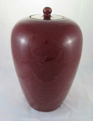 ANTIQUE CHINESE PORCELAIN OXBLOOD VASE SANG DE BOEUF CHINA QING DYNASTY c