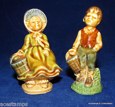 VINTAGE WADE - Large Wade JACK and JILL Nursery Rhyme Figures 1970's VGC