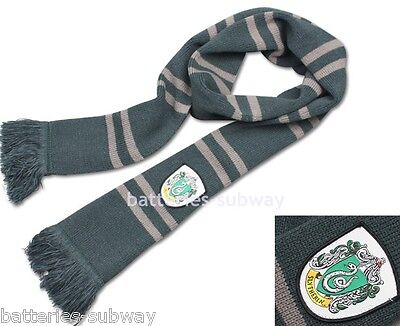 New Harry Potter Slytherin Thicken Wool Knit Scarf Wrap Soft Warm Costume 200cm