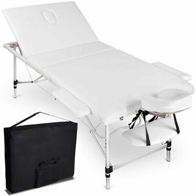 Zenses 75cm Portable Aluminium Massage Table 3 Fold Bed Beauty Therapy Waxing