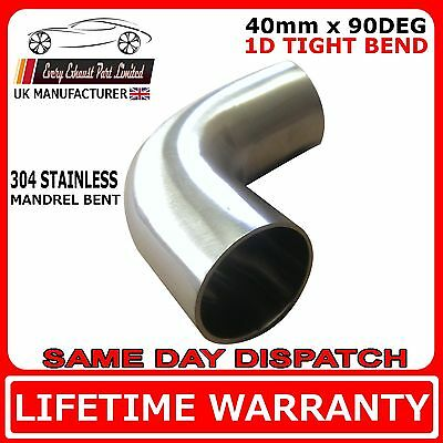 101mm 4 inch 90 degree Tight Rad 1D T304 Stainless Steel Exhaust Mandrel Bend
