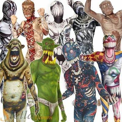 Kids Morphsuits Monster Girls Boys Fancy Dress Halloween Party Costume Outfit