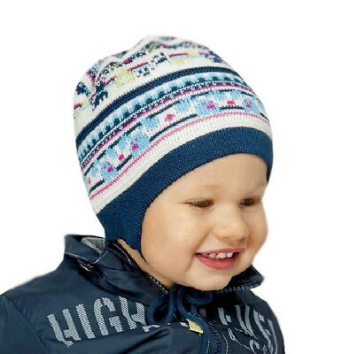 BOYS Baby Boy Knitted Hat Winter Autumn Cap Size 3 6 9 12 18 mths NEW