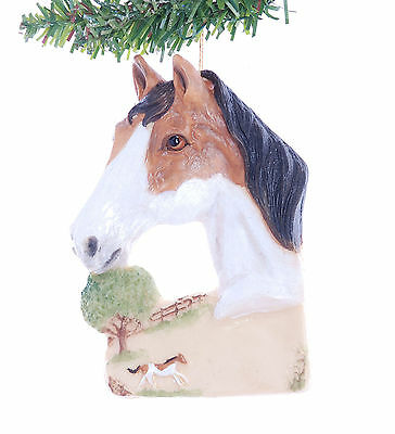 Buckskin Horse Christmas Ornament Personalized with Your Choice of Name (H112)
