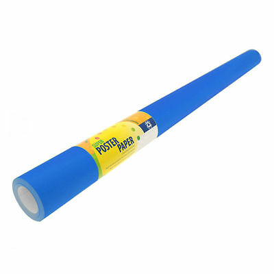 Poster Paper Bright Blue Super Poster Display Paper 1 Roll 760 mm width x 10mtr