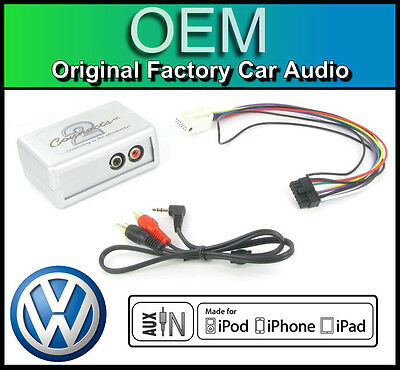 VW Golf MK5 AUX in lead Car stereo iPod iPhone player adapter connection kit