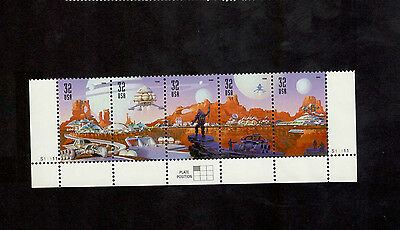 3238-42 Space Discovery Strip Of 5 W/Plate Numbers Mint/nh (free shipping offer)