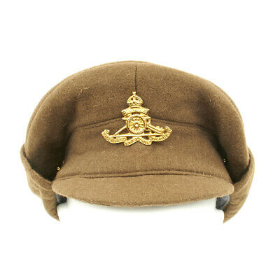 British WWI Gor Blimey 1915 Winter Forage Trench Wool Cap- Size US 7 1/2 (60cm)