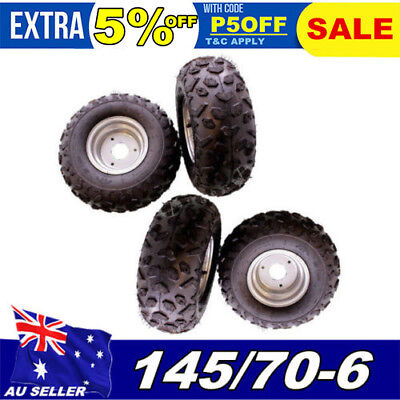 4 x 145/70-6 6 inch Tyre wheel  FOR ATV QUAD Bike BUGGY Go Cart Front / Rear