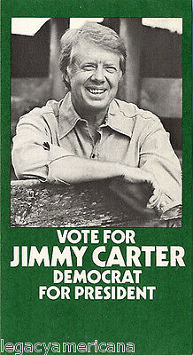 Official 1976 Jimmy Carter Atlanta Campaign Committee Postcard (2403)