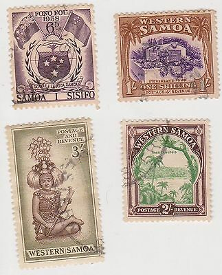 (XX19) 1935-65 Samoa mix of 5 6d to3/- MH