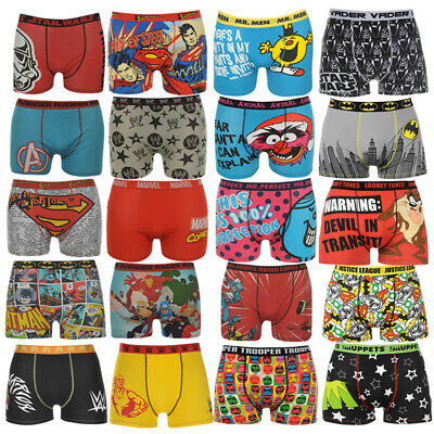 Herren Boxershorts S M L XL 2XL Boxer Shorts Boxershort Marvel Superman WWE Mix