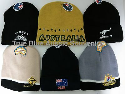 4x Australian Souvenir Beanie - 6 designs to choose from! Bulk savings! Kangaroo