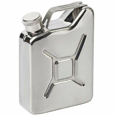 3oz Stainless Steel Jerry Can Hip Flask Utility Fuel Petrol Can Style Stylish