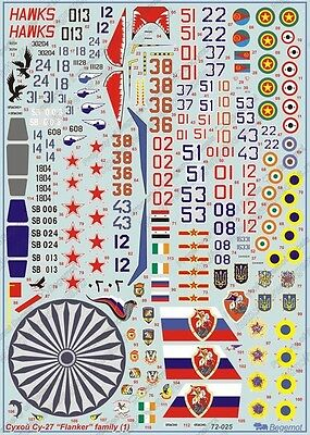 Begemot decal 1/72 Sukhoi Su-27 Family Flankers Part1
