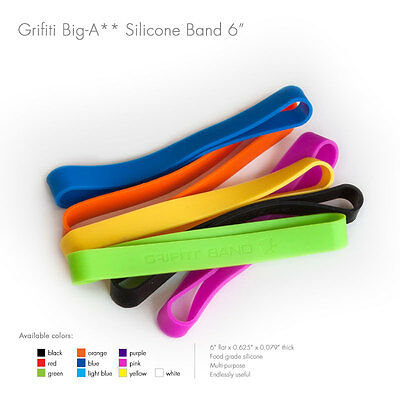 "Grifiti Big-Ass Bands 6"" 5 Pack Tough Silicone Replaces Rubber or Elastic Bands"