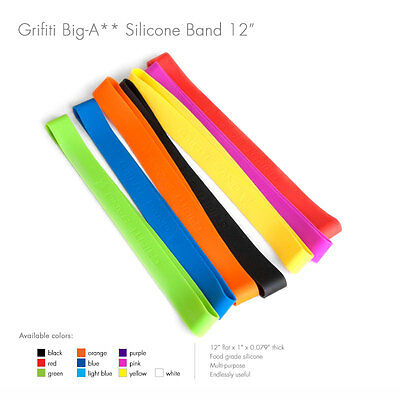 """Grifiti Big-Ass Bands 12"""" 10 Pack Tough Silicone Replace Rubber or Elastic Bands"""