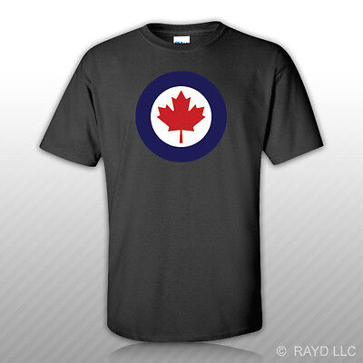 Royal Canadian Air Force Roundel T-Shirt Tee Shirt Free Sticker Canada RCAF CA