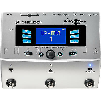 TC Helicon Play Electric Guitar & Vocal Live/Studio Effects Pedal Processor NEW