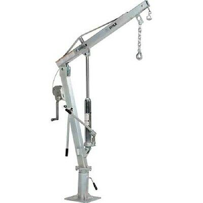 NEW! Galvanized Steel Winch Operated Pickup Truck Jib Crane 2000 Lb. Capacity!!