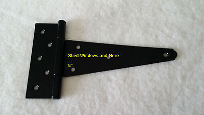 """8"""" Heavy Duty Shed Hinges (set of 6) Shed Barn Door Playhouse Treehouse Windows"""