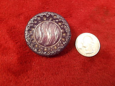#14 of 50, LARGE OLD VTG ANTIQUE? BAKELITE BUTTON, GORGEOUS AMETHYST PURPLE ONE